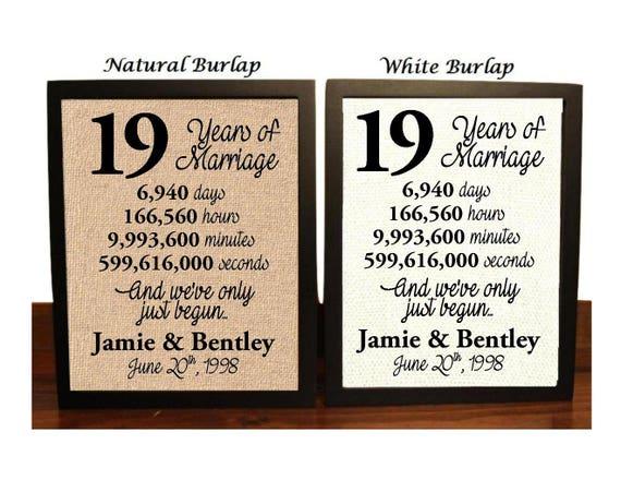 19th Wedding Anniversary 19 Year Wedding Anniversary 19th Wedding Anniversary Gift 19 Years Together Best Wedding Anniversary Gift