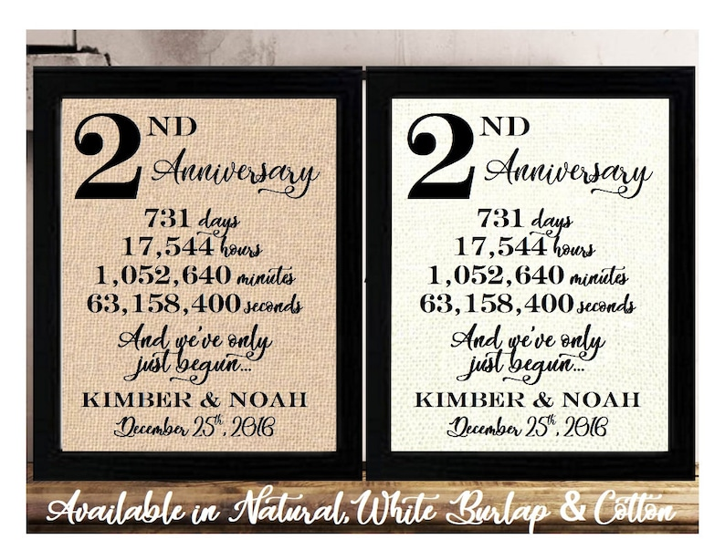 Personalized 2nd Anniversary 2 Years Together 2 Years Of Etsy