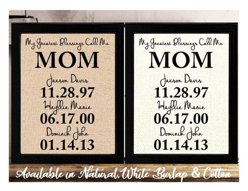 Personalized Christmas Gift For Mom Birthday From Kids