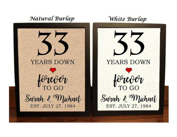 23rd Anniversary Gifts For Men: 33rd Anniversary Gift 33rd Wedding Anniversary Gift Gift