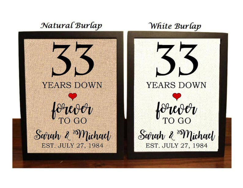 image 0 ...  sc 1 st  Etsy & 33rd Anniversary Gift 33rd Wedding Anniversary Gift Gift | Etsy