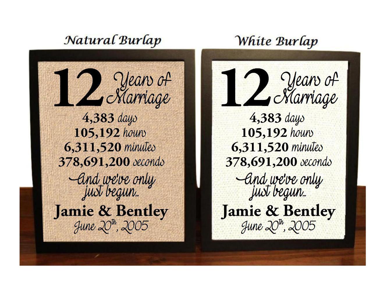 12th Wedding Anniversary 12 Year Wedding Anniversary 12th Etsy
