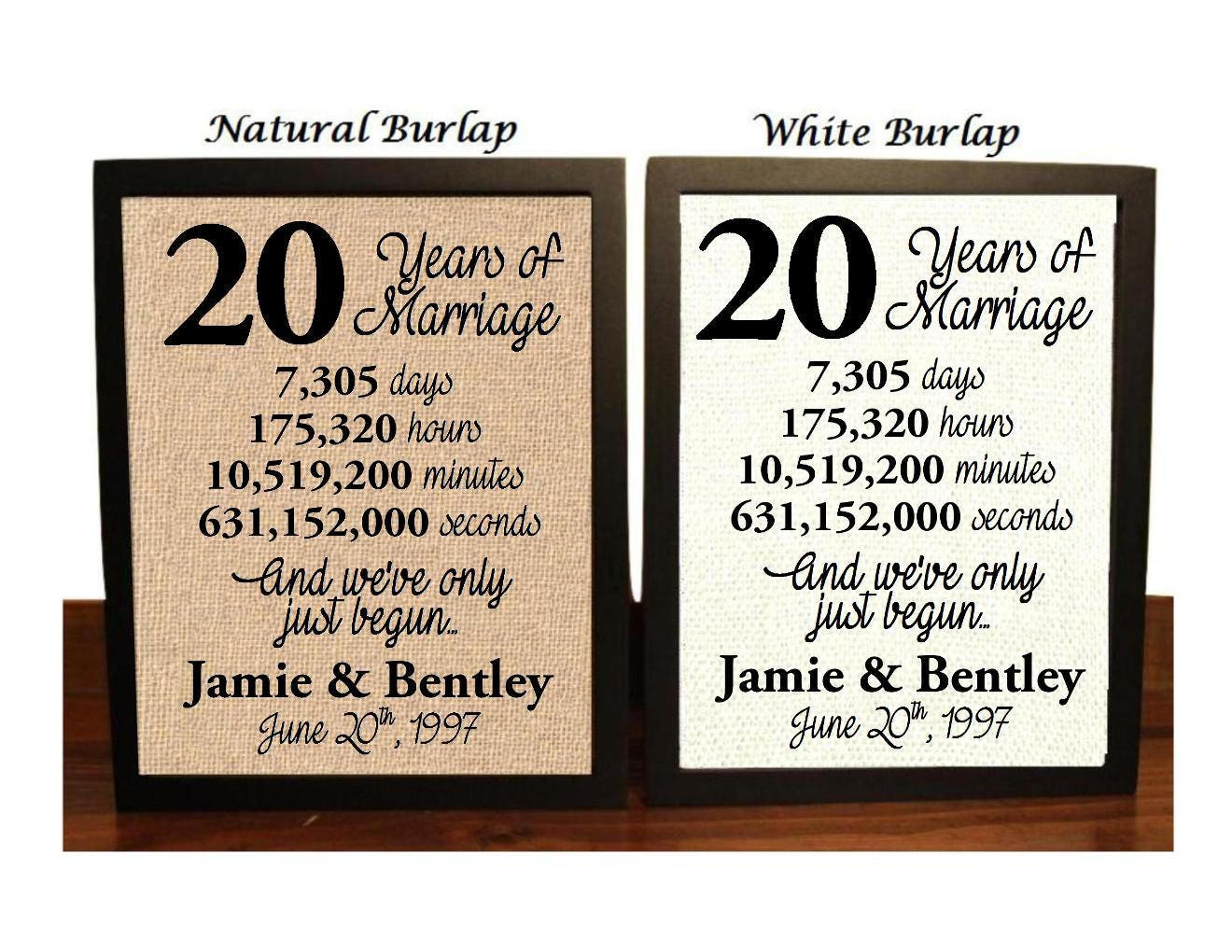 Twenty Wedding Anniversary Gift: 20th Anniversary 20 Year Anniversary 20th Anniversary Gift