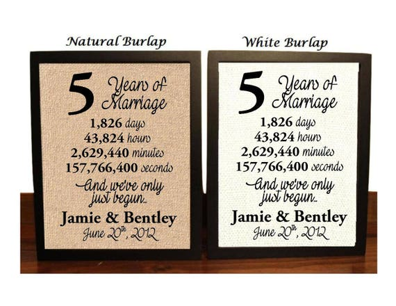 5th Wedding Anniversary 5 Year Wedding Anniversary 5th Etsy