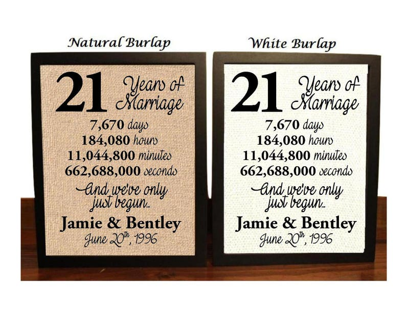 21st Wedding Anniversary.21st Wedding Anniversary 21 Year Wedding Anniversary 21st Wedding Anniversary Gift 21 Years Together Best Wedding Anniversary Gift