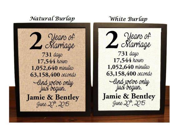 2 Year Wedding Anniversary 2nd Wedding Anniversary 2nd Etsy