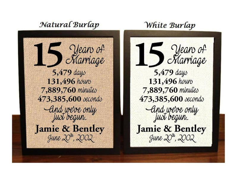 15th Wedding Anniversary.15th Wedding Anniversary 15 Year Wedding Anniversary 15th Wedding Anniversary Gift 15 Years Together Fifteenth Anniversary Gift