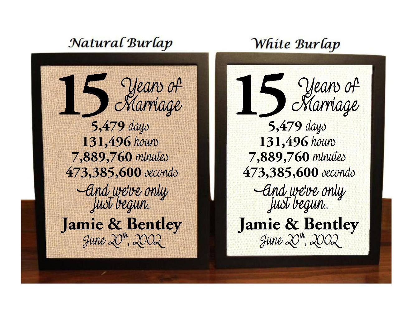15th Wedding Anniversary 15 Year Wedding Anniversary 15th Etsy