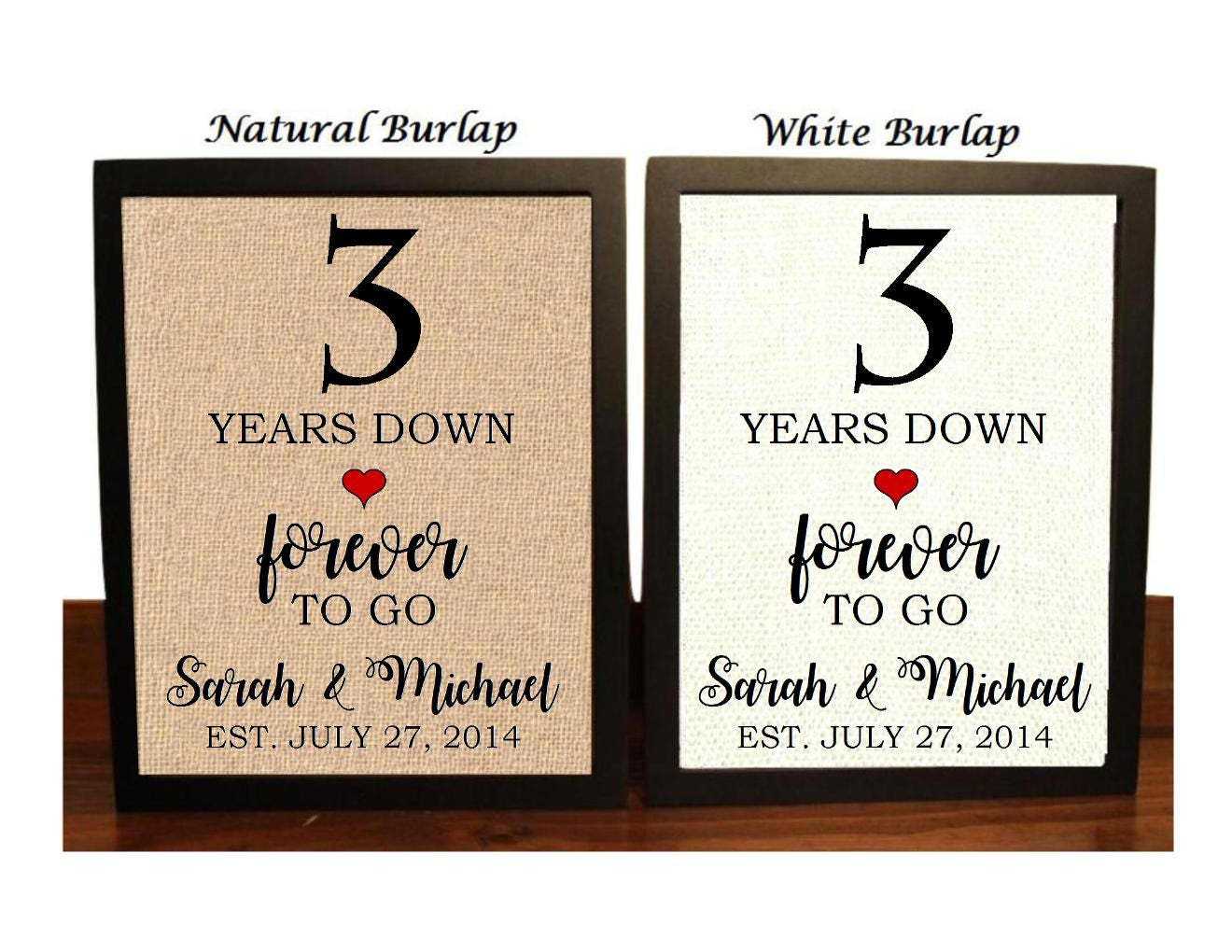 3rd Wedding Anniversary Traditional Gift: 3rd Anniversary Gift 3rd Wedding Anniversary Gift Gift For