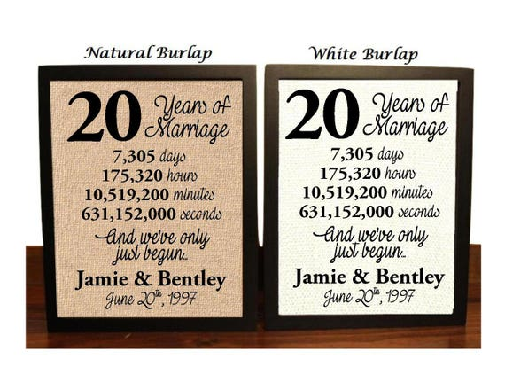 Wedding Anniversary Gifts 20 Years: 20th Wedding Anniversary 20 Year Wedding Anniversary 20th