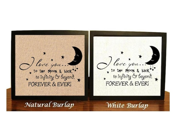 PERSONALISED Love You To The MOON And Back INFINITY Gifts for Her Him Novelty I