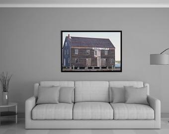 pedrick store house, sail loft, derby wharf, salem, massachusetts, new england, photography, fine art print