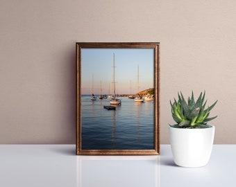 sailboats, rockport harbor, cape ann, massachusetts, new england, bearskin neck, motif number 1, seaside, photography, fine art print