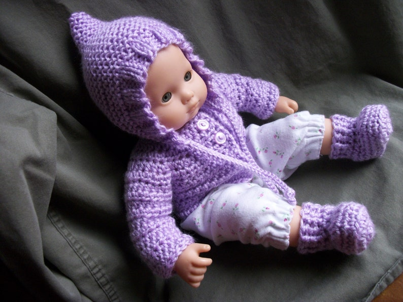 Solid Color Sweater Handmade for 15 in Bitty Baby Doll Made in USA