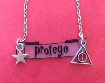 Necklace harry potter protego out Wizard Magic