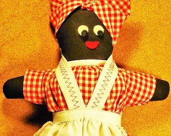 126. Vintage Souvenir New Orleans Black Mammy Rag Doll