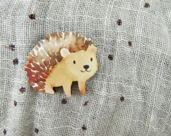 Happy Hedgehog Brooch