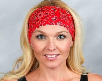 Running Headband-Red Workout Headband-Fitness Headband-Yoga Headband-Gym  Headband- Boho Headband-Bandana Headband-Women Head Wrap-Red e8e55c5a320
