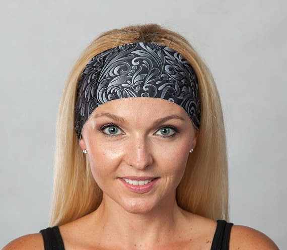 Yoga Headband for Women-Fitness Headband-Running Headband-Workout Headband-Wide  Bohemian Headband-Women Headband-Moisture Wicking Headband e2d6bb06ef4