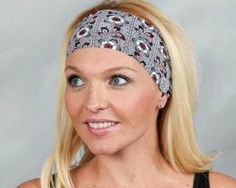 Yoga Headband-Workout Headband-Fitness Headband-Running Headband-Women Headband-Wide Headband- Moisture Wicking Headband-Bohemian Headband