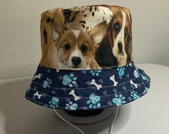Bucket Hat with Dogs for Baby - Dog Hat