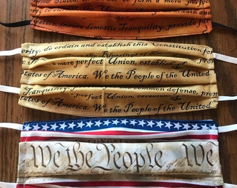 U.S. Constitution Face Mask ... We The People