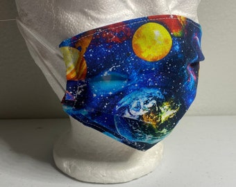 Space Face Mask - Child Size -  Outer Space Face Mask for Kids