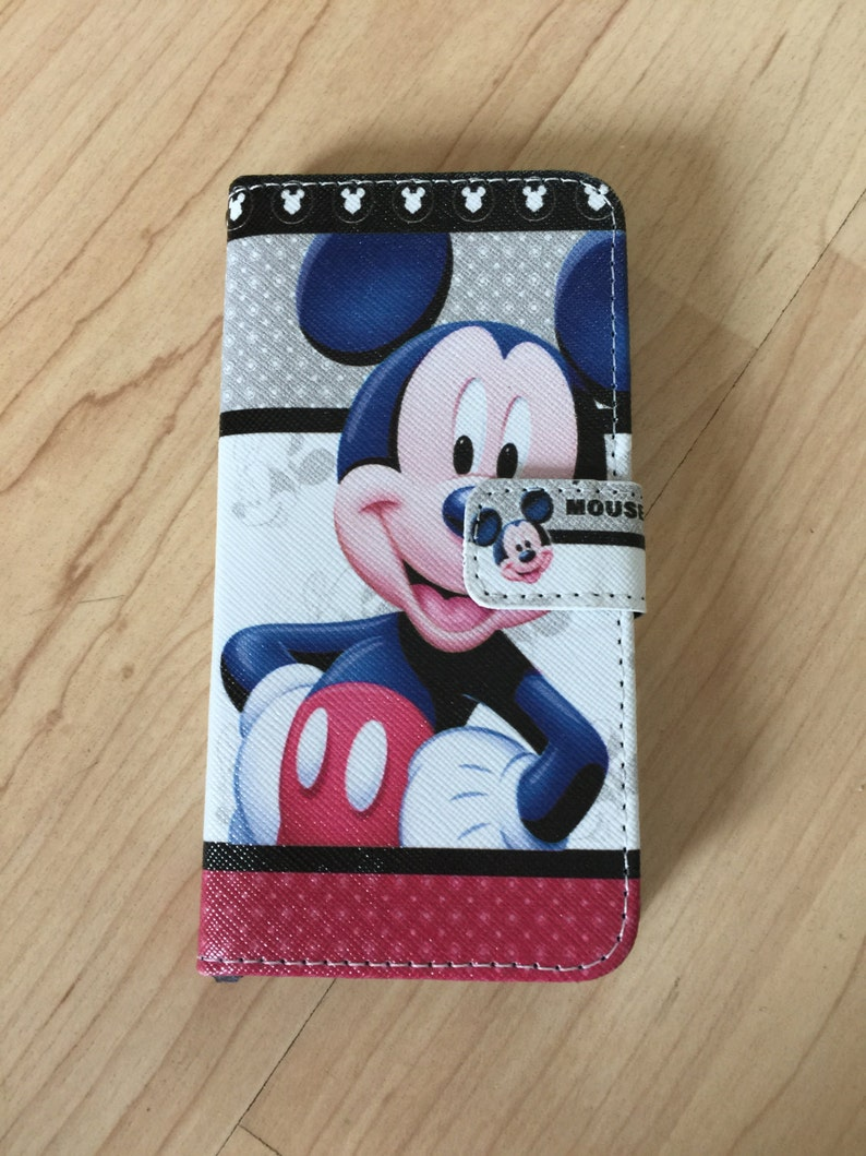 buy popular b8c01 f182a Disney Mickey Mouse PU Leather Case Wallet For iPhone 7 , iPhone 7 Plus  ,iPhone 8 , iPhone 8 Plus ,Ship From NY