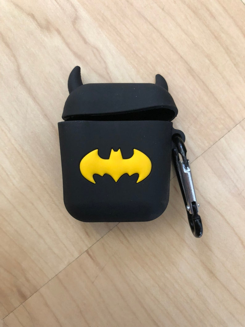 promo code b65a9 b9226 Batman Airpods 1 2 Case Cover Cute Keychain Ship From NY