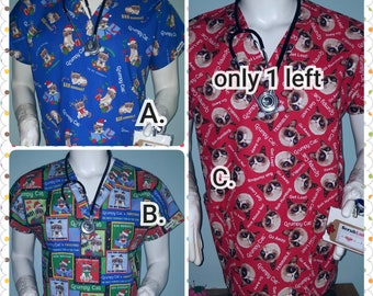 ed11920c87d Scrub Tops Grumpy Cat Christmas Humbug 3 choices Especially tailored for  Men/Gals: murses, male nurses, techs, dental,vets , MD, PA Rn Np