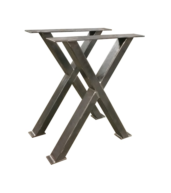 Counter Height Metal X Table Legs Industrial Etsy - Counter height folding table legs