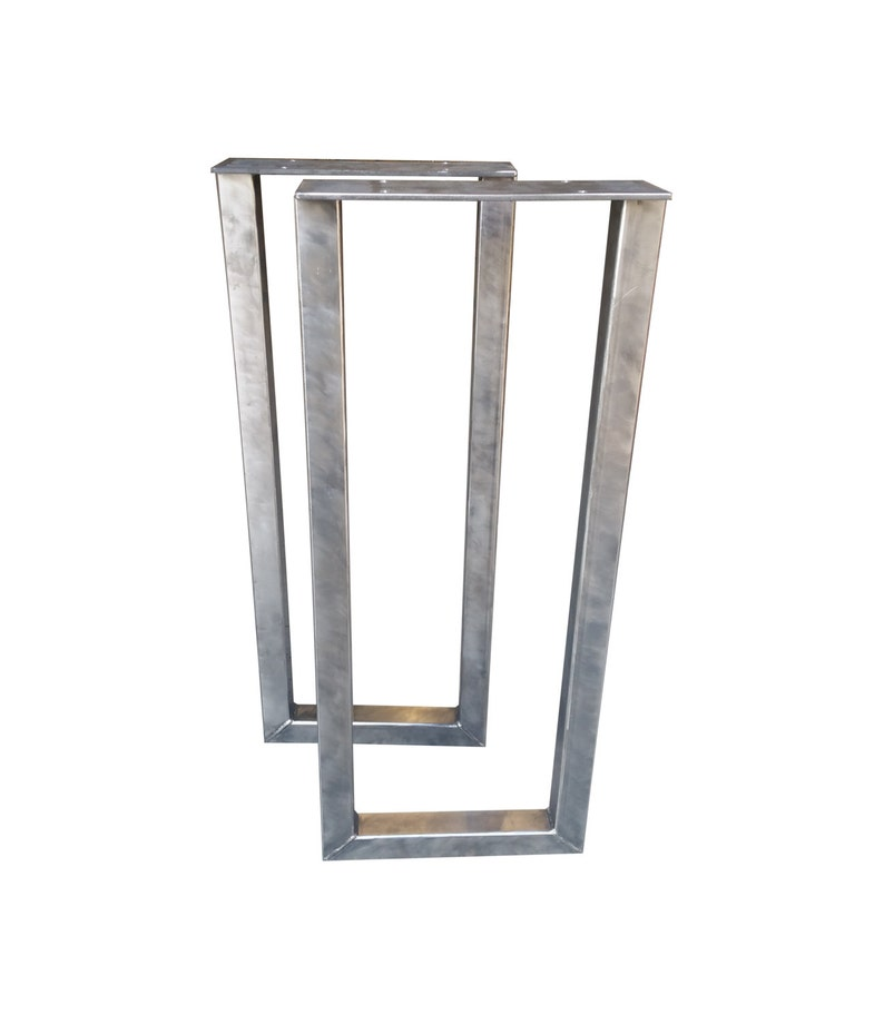 Console Metal Rectangle Table Legs - 2x2 Square Tubing, Steel Table,  Butcher Block, Industrial, Office Desk, Kitchen Island