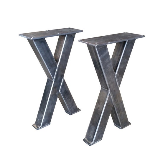 Wondrous Metal Bench Legs 2X2 Tubing Custom Made Box Legs Steel Table Barn Wood Butcher Block Industrial Caraccident5 Cool Chair Designs And Ideas Caraccident5Info