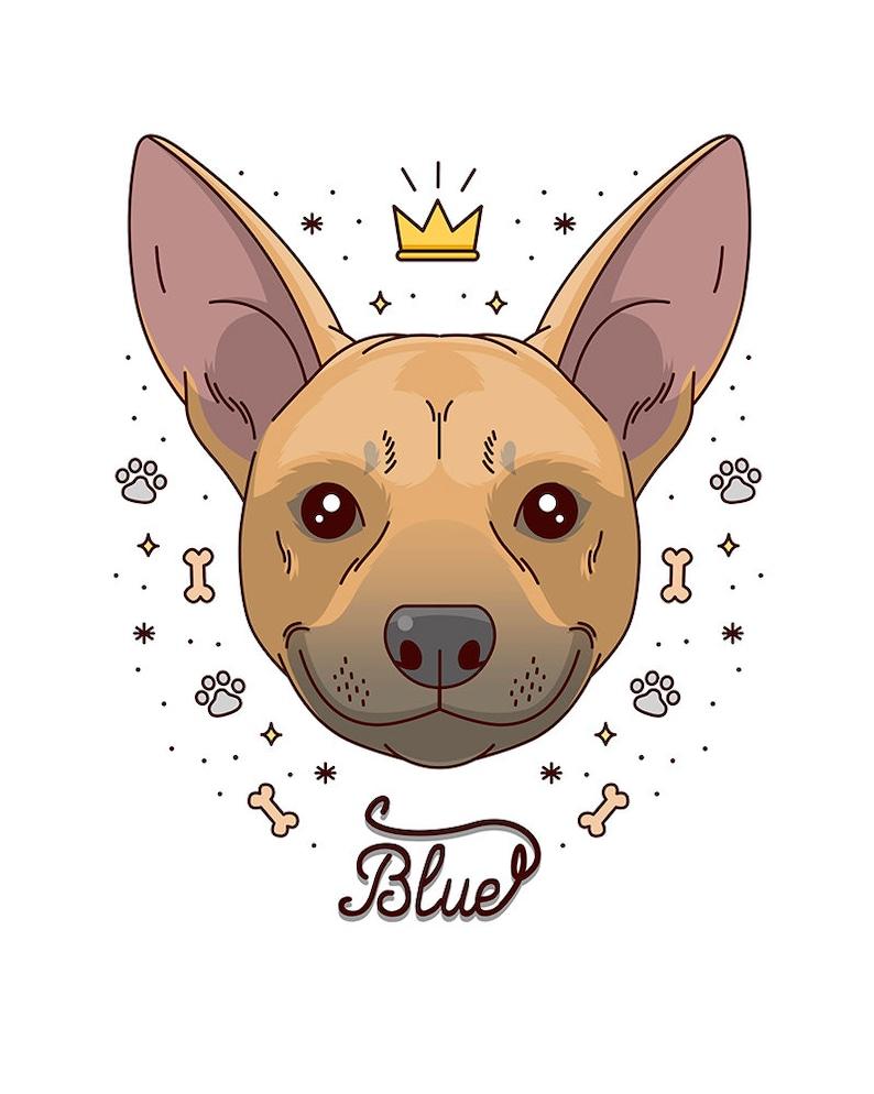 Bespoke art Dog art Custom portrait Custom dog portrait Gift certificated Custom pet portrait Custom illustration Quirky pet cartoon