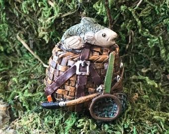 Miniature Fishing Creel / Basket