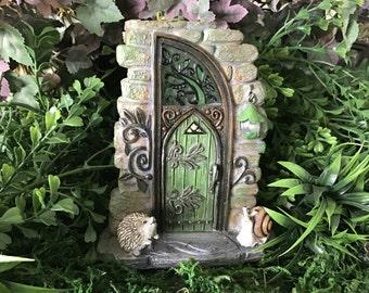 Miniature Solar Fairy Door - Erin Green - Lights Up!