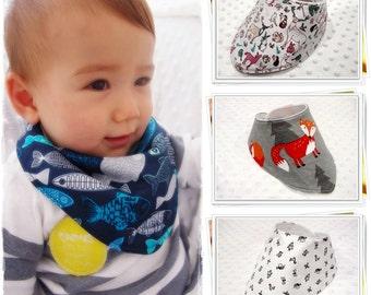 ANY 3 BIBS / Handmade / Baby Bib / Baby Bandana Bib / Baby Dribble Bib / Bibdana / Baby Drool Bib / Baby Accessories