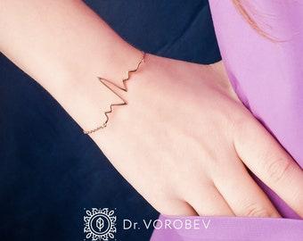 EKG bracelet-Medical Jewellery-Heartbeat Bracelet-Ekg Jewellery-Heartbeat Jewellery-Medical Gift-Gift for Doctor-Gift for Nurse
