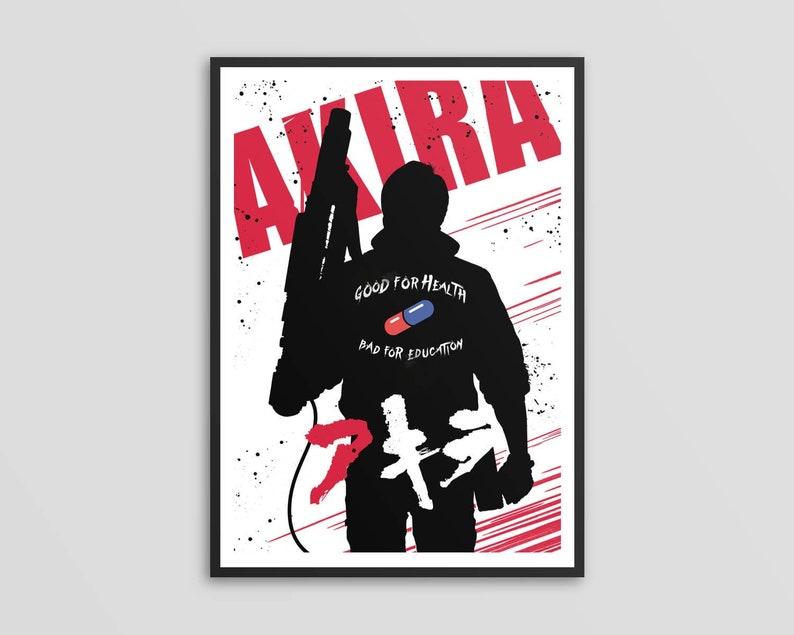 Alternative kaneda Akira movie poster art digital print manga art fan art  wall art home decor illustration geek poster