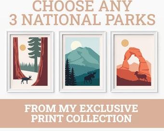 National Park Poster Etsy
