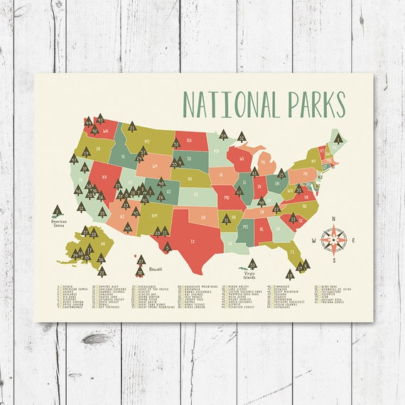 Map of national parks 2 printable file (JPEG) download and print any size  between 5\