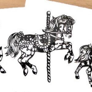 Scandinavian Style Bunting Papercut Template Set