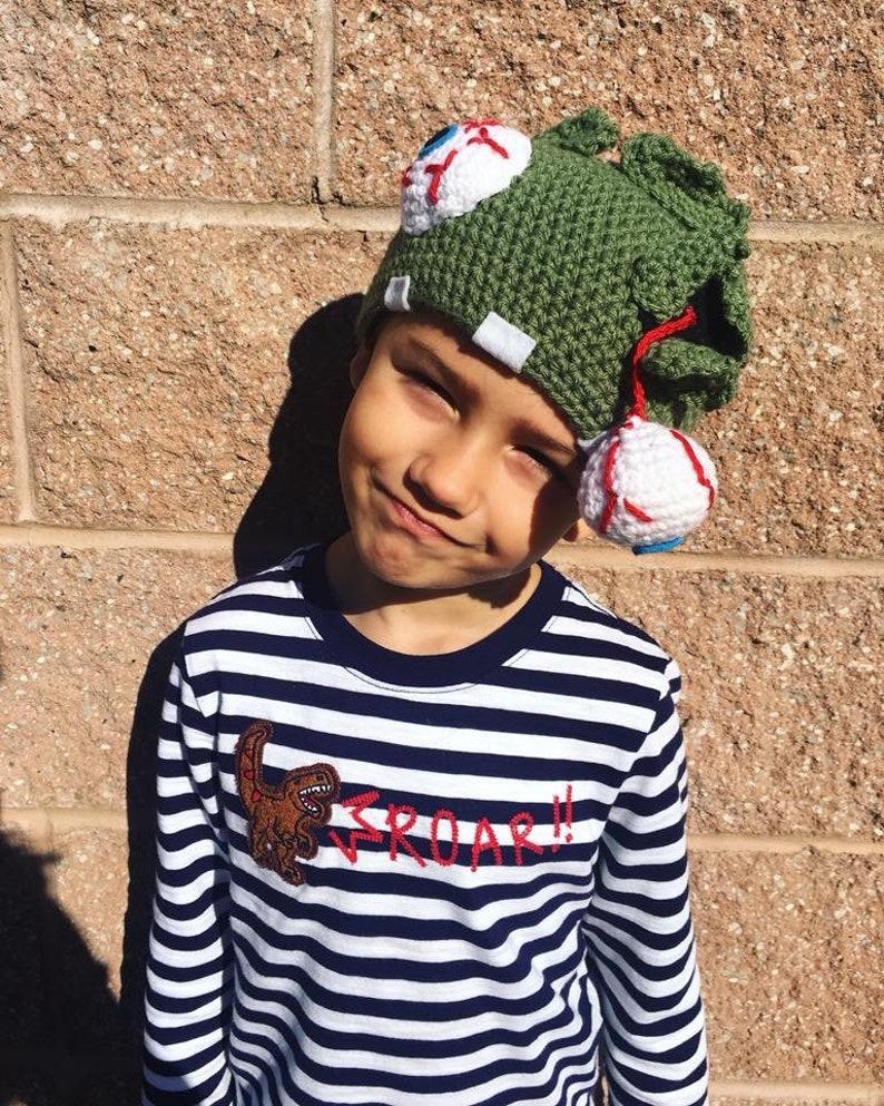 Zombie Crochet Hat
