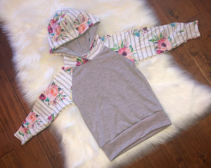 Featured listing image: FLORAL BABY HOODIE