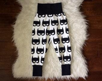 BAT MASK LEGGINGS; batman leggings, boys leggings, batman leggings, baby boy