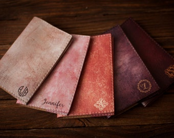 Personalized passport cover, passport holder, travel,  personalized leather passport cover, leather passport cover, rose