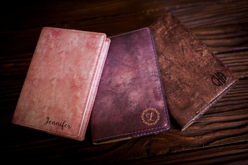 Refillable Leather Journal Personalized leather journal image 0