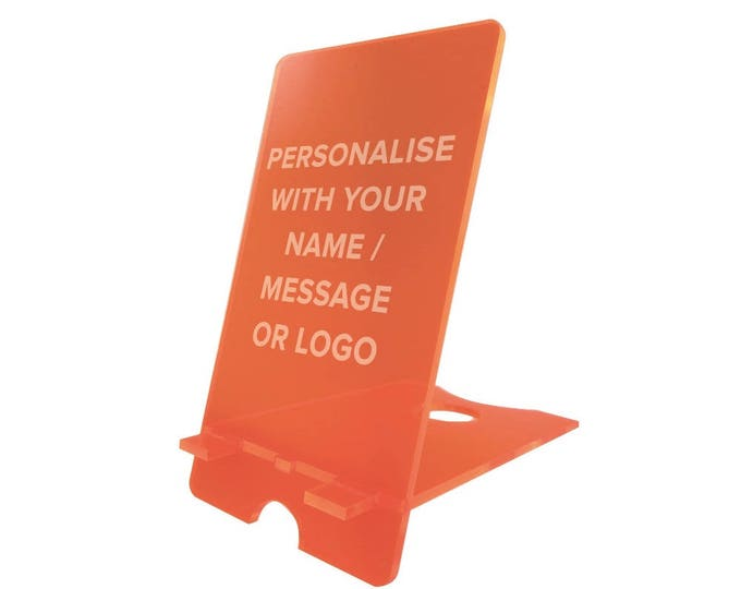 Personalised Mobile Phone Stand Holder (Many Colours Available)