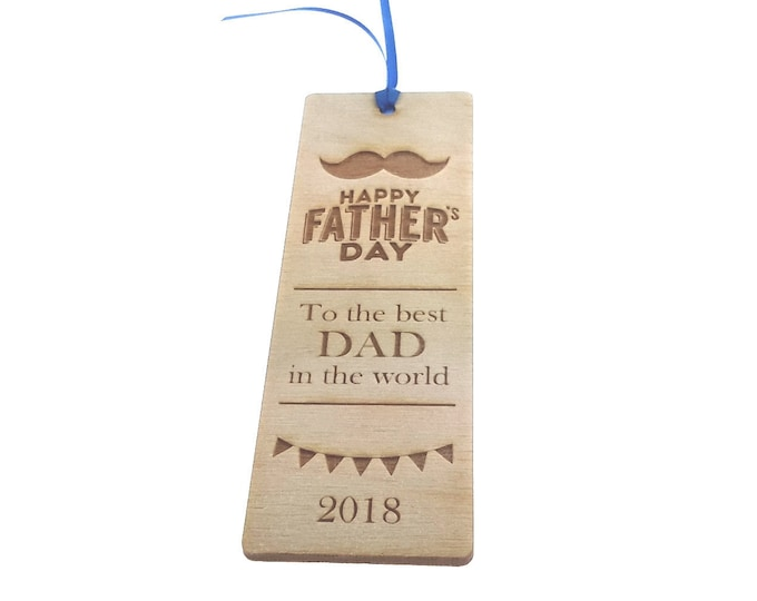 FATHER'S DAY Wooden Bookmark Gift - great gift for Dad, Father, Grandad