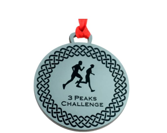 Personalised Running Medal - Silver Metallic, 7 cm Diameter, supplied with Ribbon
